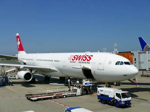 スイス航空で出発