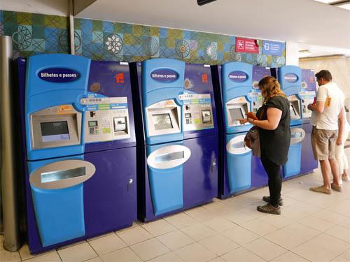 リスボン地下鉄の券売機
