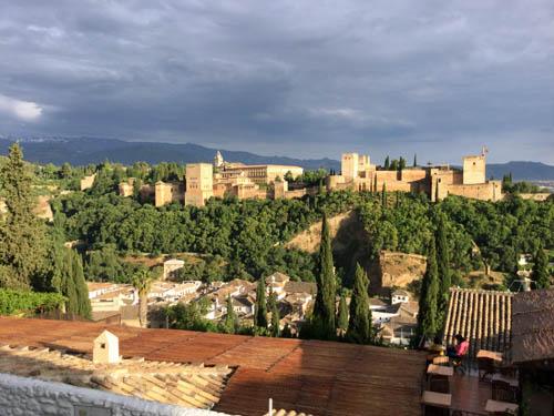 サン・ニコラス展望台からのアルハンブラ宮殿
