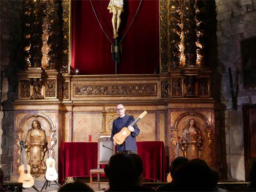サンタ・マリア・デル・ピ教会でのギターコンサート