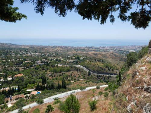 地中海を眺める