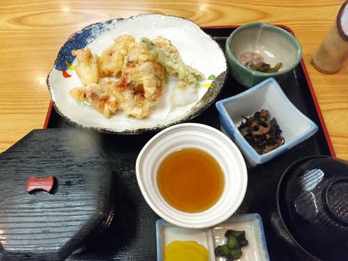 タコの天ぷら定食