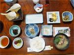 旅館「茶梅」の朝食