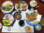 旅館「茶梅」の魚料理