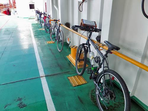 固定された自転車