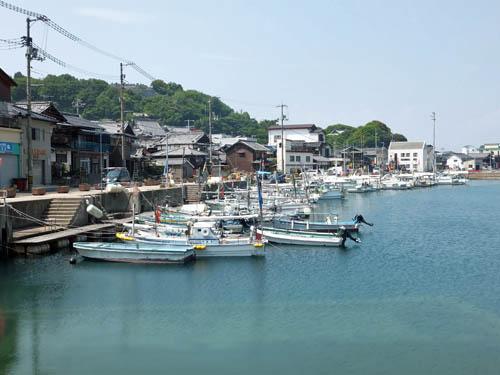 豊島の漁港