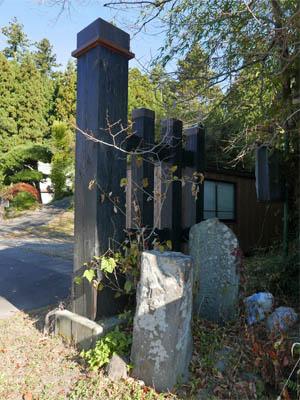 坂本宿京方木戸跡