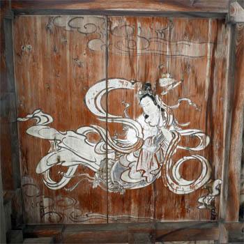 西念寺楼門の天井画
