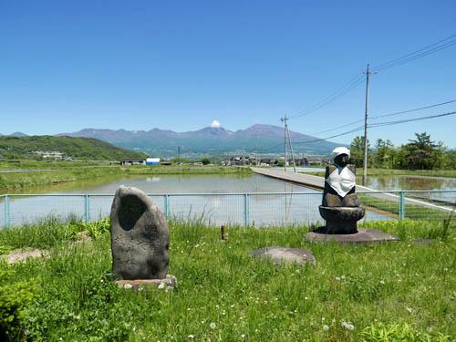 大日如来と浅間山