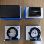Anker PowerCore 10000 モバイルバッテリーと防弾仕様のケーブル
