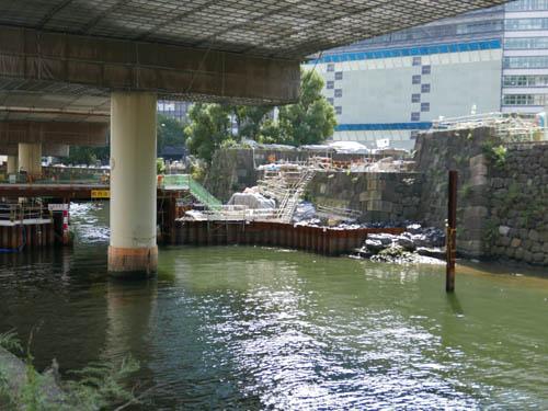 常磐橋修復工事