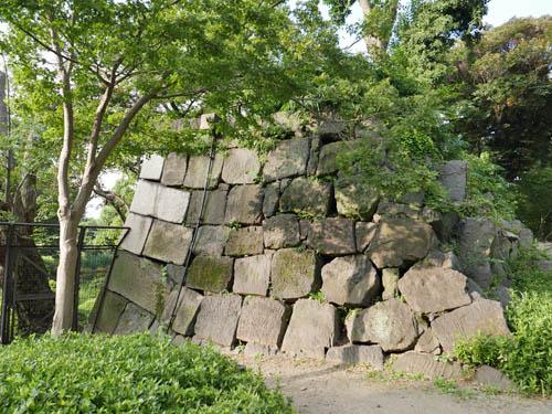 日比谷公園の石垣