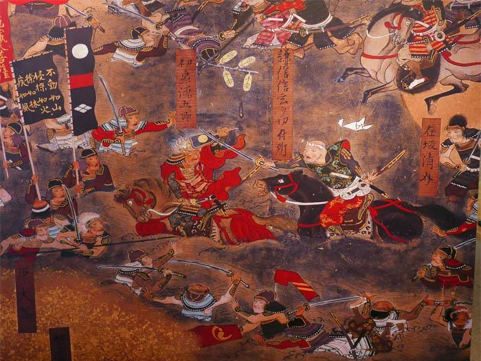 川中島の戦い屏風絵