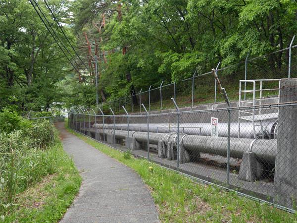 落合発電所送水管