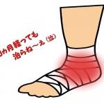 年を越す足首故障 後脛骨筋腱炎だった・・・
