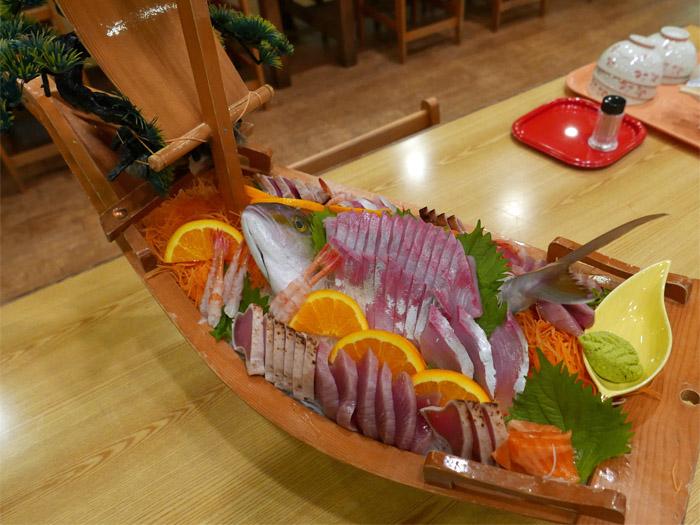刺身舟盛り