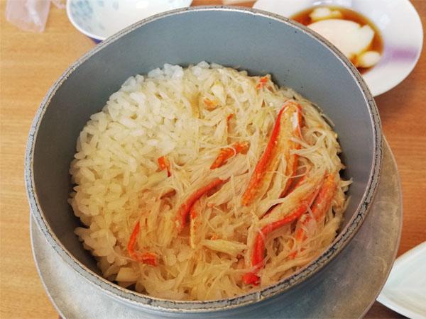 蟹の炊込みご飯