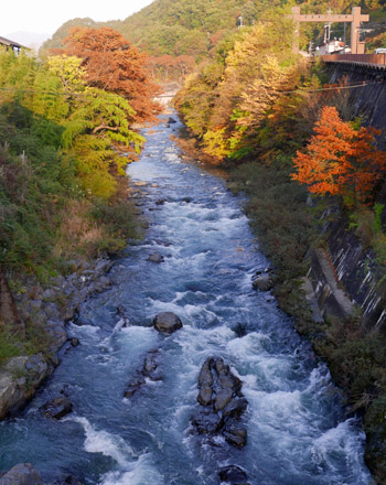 紅葉の木曽川