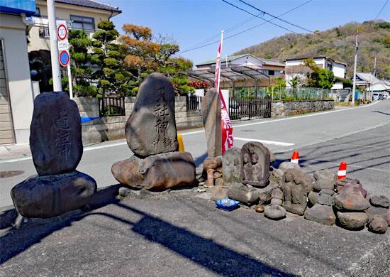 旧東海道の石仏